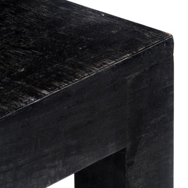 Konsolentisch Schwarz 118x30x76 cm Mango Massivholz