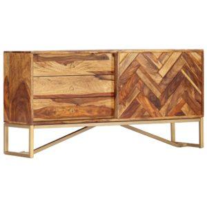 Sideboard 118 x 30 x 60 cm Massivholz