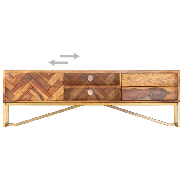 TV-Schrank 140 x 30 x 45 cm Massivholz