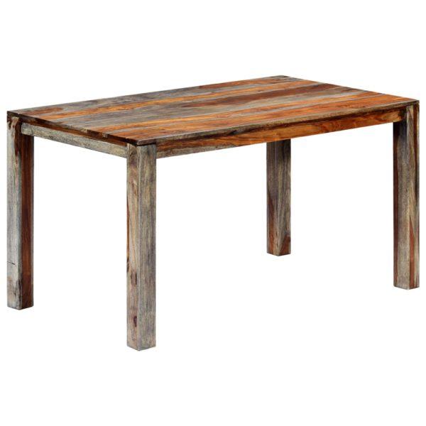 Esstisch Grau 140 x 70 x 76 cm Massivholz