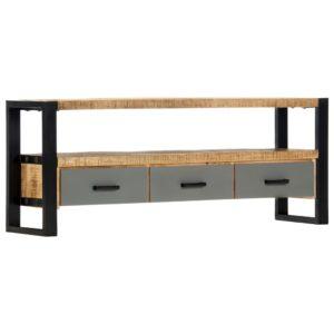 TV-Schrank 130 x 30 x 50 cm Massivholz Mango