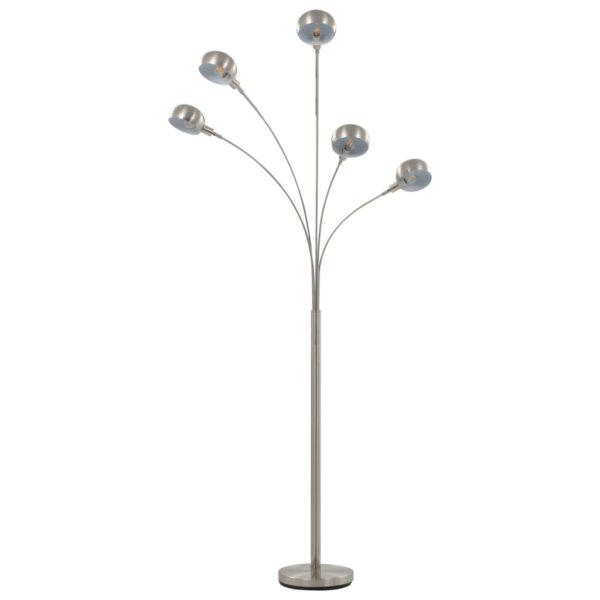 Stehlampe 200 cm 5 x E14 Silbern