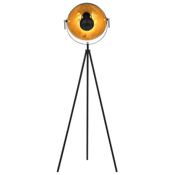 Standleuchte E27 Schwarz und Golden 31 cm