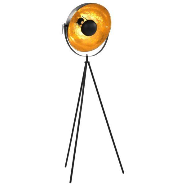Standleuchte E27 Schwarz und Golden 41 cm