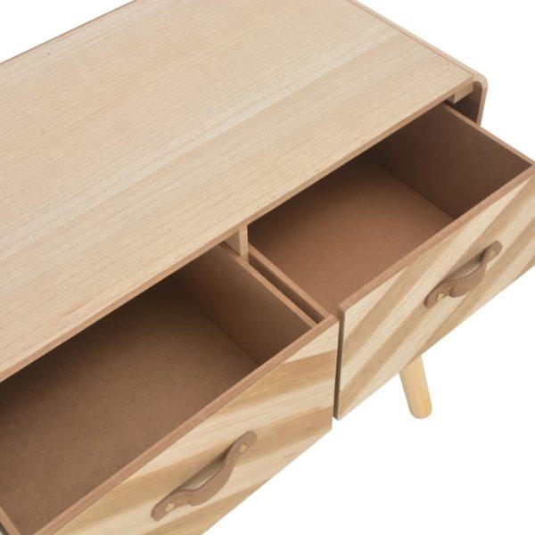 Konsolentisch 100x35x68 cm Massivholz