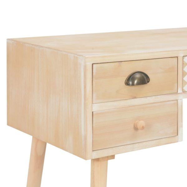 Schreibtisch mit 5 Schubladen 114x40x75,5 cm Massivholz Kiefer