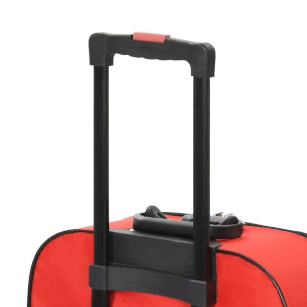 Weichgepäck Trolley-Set 3-tlg. Rot Oxford-Gewebe