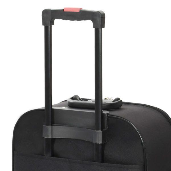 Weichgepäck Trolley-Set 3-tlg. Schwarz Oxford-Gewebe