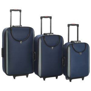 Weichgepäck Trolley-Set 3-tlg. Marineblau Oxford-Gewebe