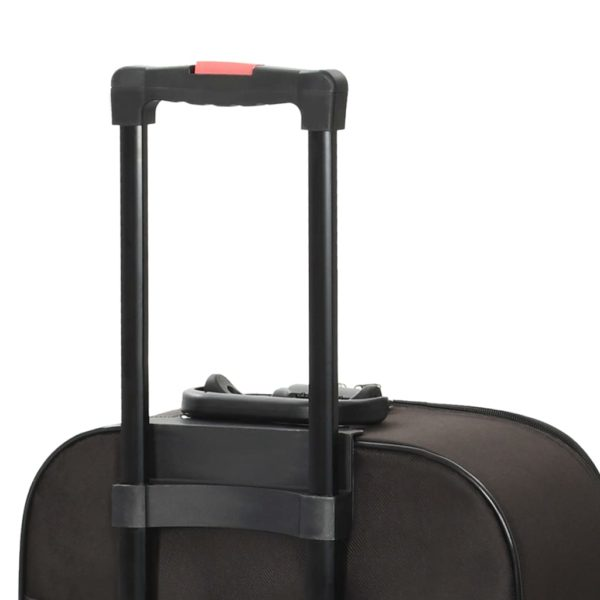 Weichgepäck Trolley-Set 3-tlg. Braun Oxford-Gewebe