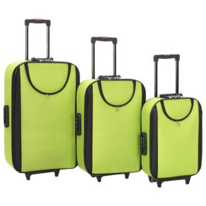 Weichgepäck Trolley-Set 3-tlg. Grün Oxford-Gewebe