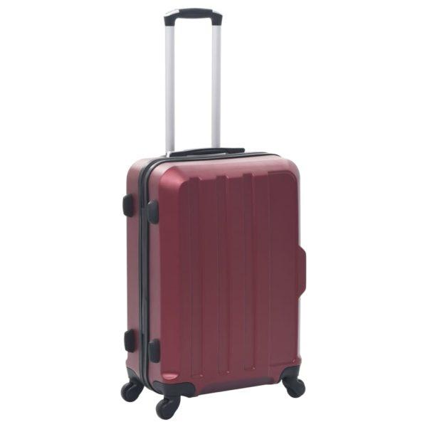 Hartschalen-Trolley-Set 3 Stk. Weinrot ABS