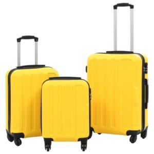 Hartschalen-Trolley-Set 3 Stk. Gelb ABS