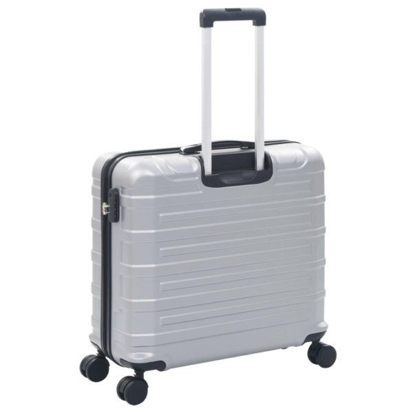 Hartschalen-Trolley-Set 2 Stk. Silbern ABS