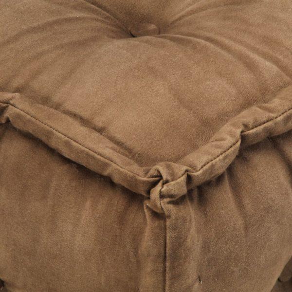 Pouf Braun 40 x 40 x 40 cm Baumwoll-Leinwand