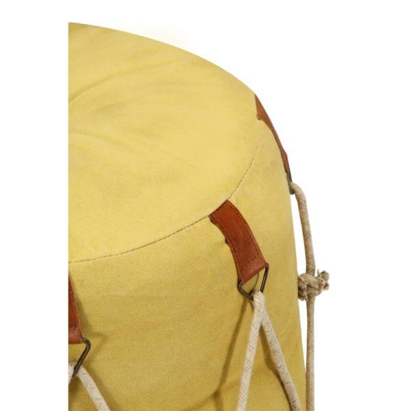 Sitzpuff Gelb 40 x 40 cm Baumwoll-Leinwand