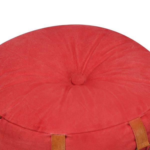 Pouf Rot 40 x 40 cm Baumwoll-Leinwand