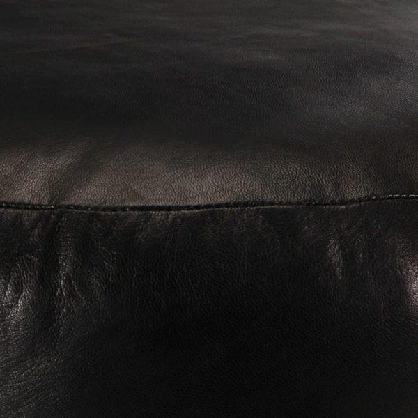 Pouf Schwarz 60 x 30 cm Echtes Ziegenleder