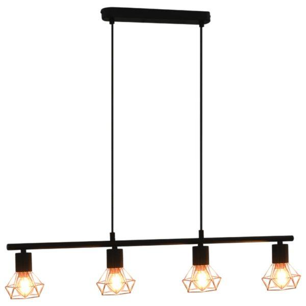 Deckenleuchte mit Glühlampen 4 W Schwarz und Kupfer 80 cm E14