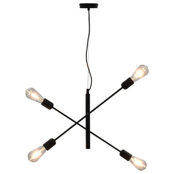 Deckenleuchte mit Glühlampen 2 W Schwarz E27
