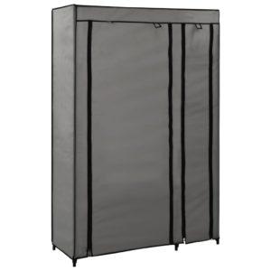 Faltschrank Grau 110x45x175 cm Stoff