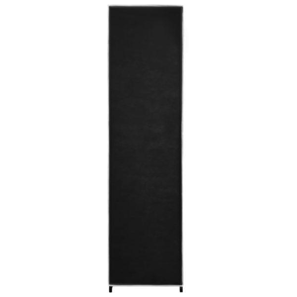 Kleiderschrank mit 4 Fächern Schwarz 175 x 45 x 170 cm