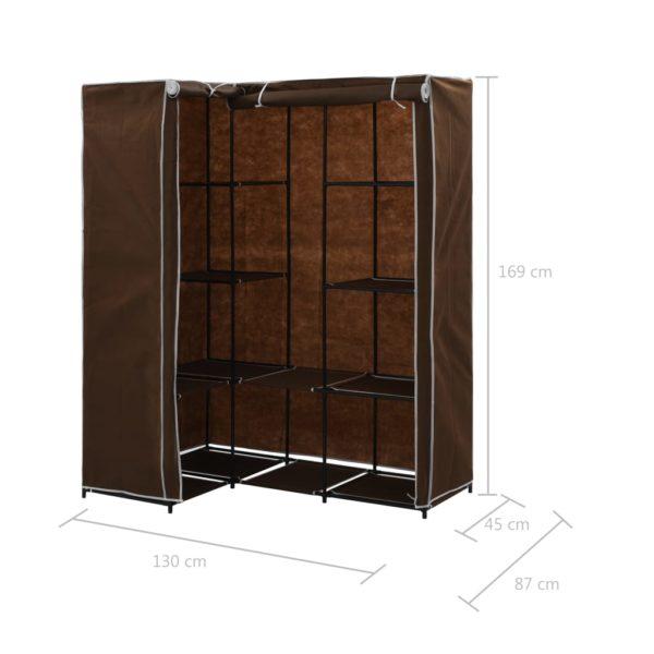 Eckkleiderschrank Braun 130 x 87 x 169 cm
