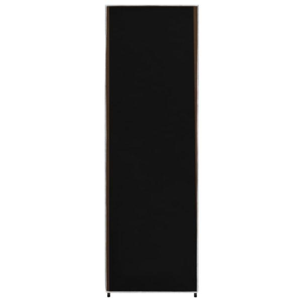 Kleiderschrank Schwarz 87 x 49 x 159 cm Stoff