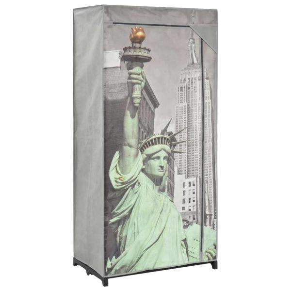 Kleiderschrank 75×45×160 cm New York Stoff