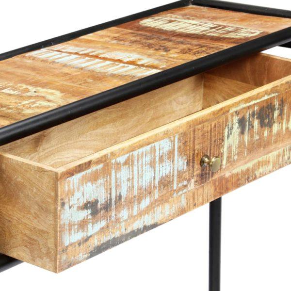 Konsolentisch 118 x 30 x 75 cm Recyceltes Massivholz