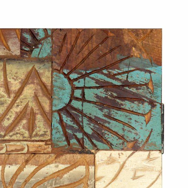 Highboard Handgeschnitzt 85×45×180 cm Recyceltes Massivholz