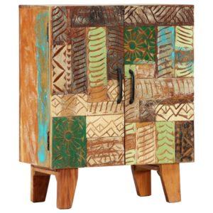 Sideboard Handgeschnitzt 60×30×75 cm Recyceltes Massivholz