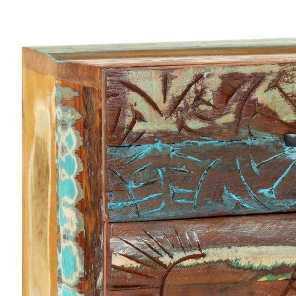 Nachttisch Handgeschnitzt 40×30×50 cm Recyceltes Massivholz