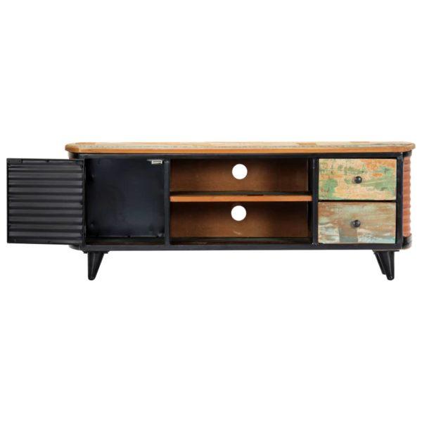 TV-Schrank 120 x 30 x 45 cm Recyceltes Massivholz