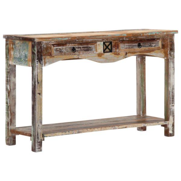 Konsolentisch 120 x 40 x 75 cm Recyceltes Massivholz