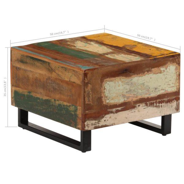 Couchtisch 50 x 50 x 35 cm Recyceltes Massivholz