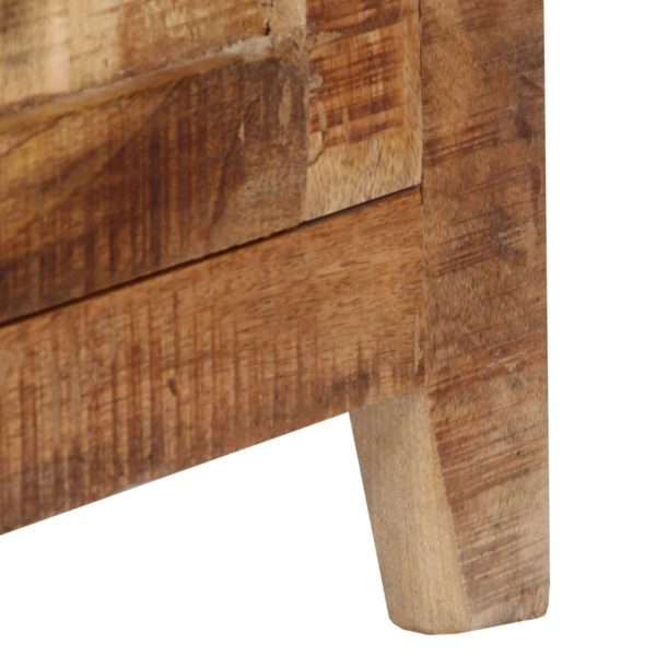 Highboard 90 x 40 x 180 cm Massivholz Mango