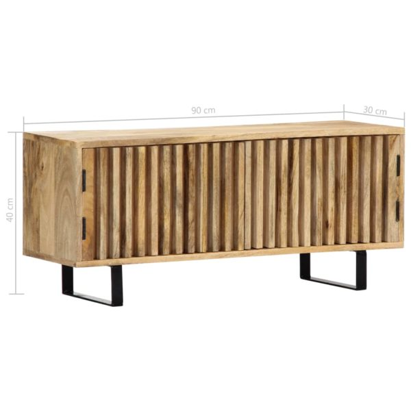 TV-Schrank 90 x 30 x 40 cm Mango-Massivholz