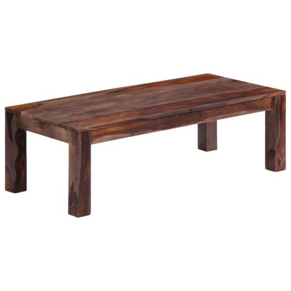 Couchtisch Grau 110 x 50 x 35 cm Massivholz