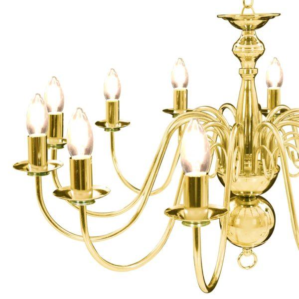Kronleuchter Golden 12 x E14-Glühbirnen