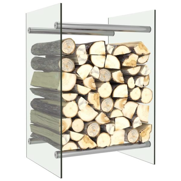 Brennholzregal Transparent 40 x 35 x 60 cm Glas