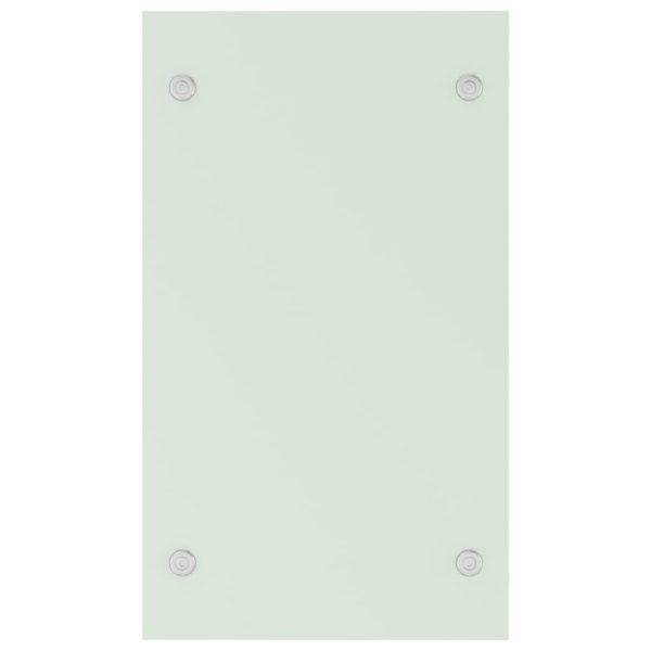 Brennholzregal Weiß 40 x 35 x 60 cm Glas