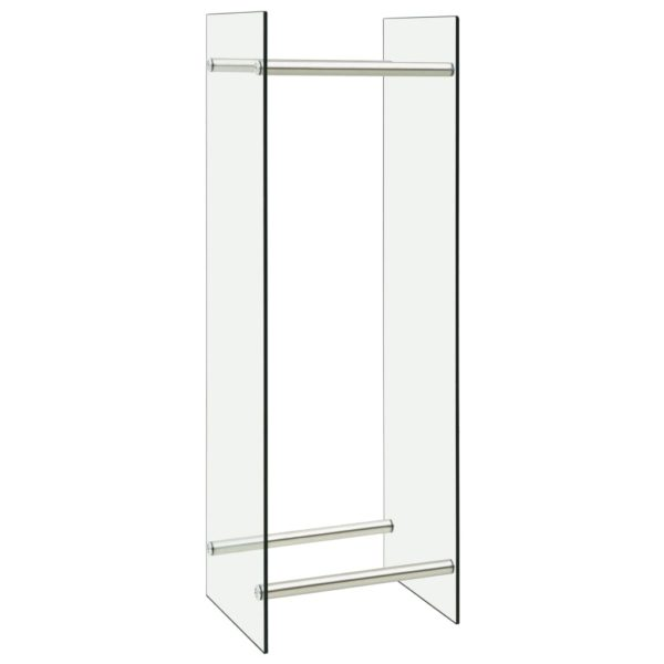 Brennholzregal Transparent 40 x 35 x 120 cm Glas