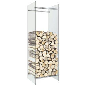 Brennholzregal Transparent 40 x 35 x 120 cm Glas