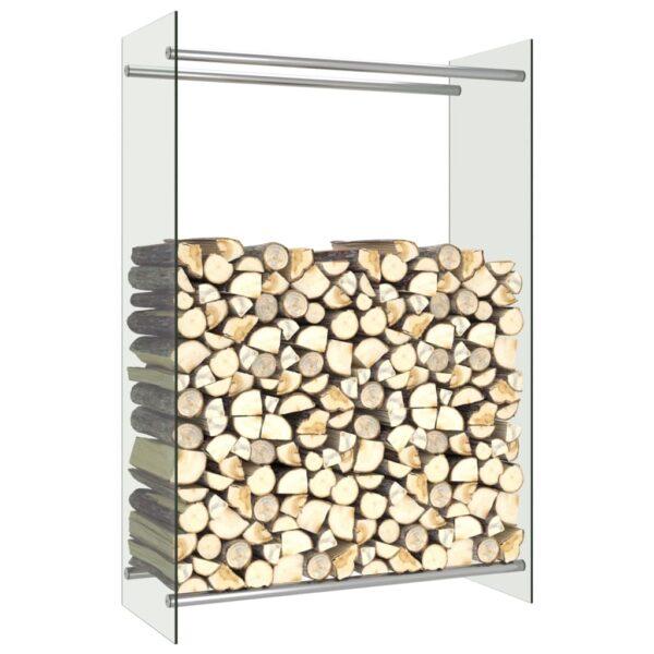 Brennholzregal Transparent 80 x 35 x 120 cm Glas