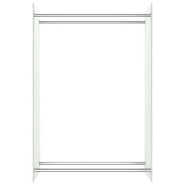 Brennholzregal Weiß 80 x 35 x 120 cm Glas