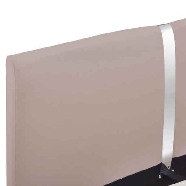 Bettgestell Cappuccino-Braun Kunstleder 120×200 cm