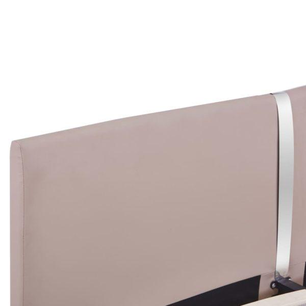 Bettgestell Cappuccino-Braun Kunstleder 160×200 cm