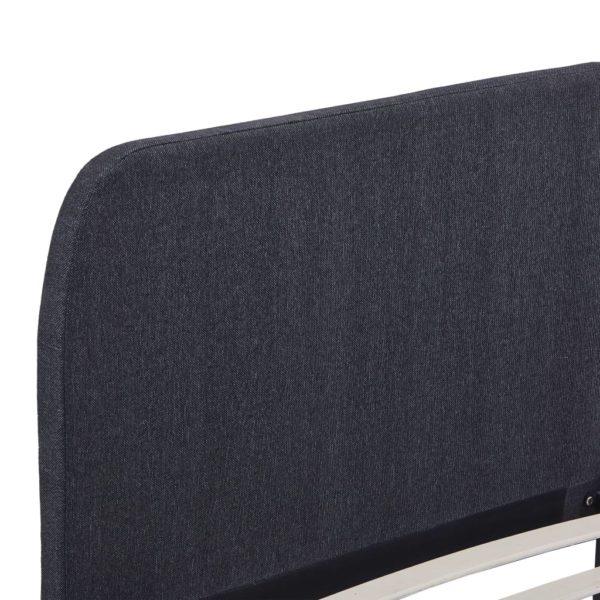 Bettgestell Dunkelgrau Stoff 180×200 cm