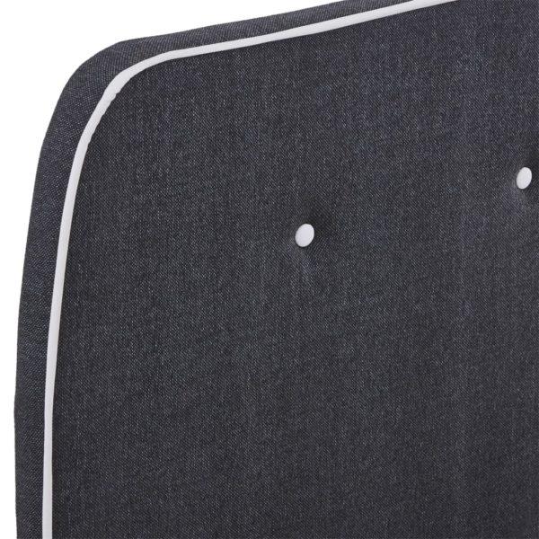 Bettgestell Dunkelgrau Stoff 120×200 cm